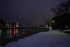 室見川、雪です。